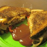 Grilled Tofurky and Daiya Cheese Sandwich