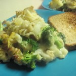 Cheesy Garlic-Broccoli-Potato Casserole